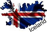 10cm! Aufkleber-Folie Wetterfest Made IN Germany Island Iceland UV&Waschanlagenfest Auto-Sticker Decal Fahne Flagge Wappen Land FD67 Profi Qualität bunt farbig Digital-Schnitt!