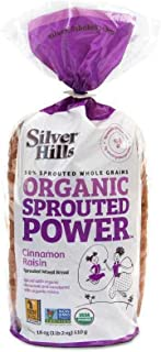 Silver Hills Bakery Organic Cinnamon Raisin Sprouted Wheat Bread, 18 Ounce -- 8 per case.
