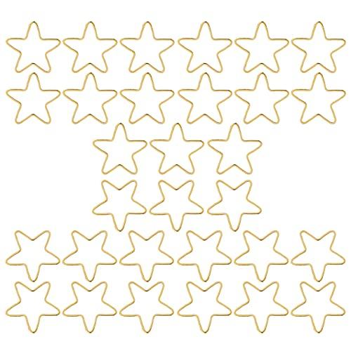 Meiyya Colgantes Colgantes de Bisel Abierto, Colgantes de Molde de Marco en Blanco Colgantes de Molde Hueco para Fiesta de cumpleaños para Amigos(Oro, Estrella de Cinco Puntas)