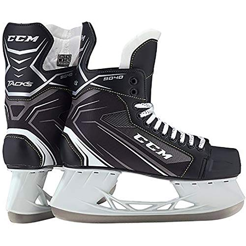 CCM Unisex SK9040 Player Tacks YT Hockey Skate, Youth, Black, 8D