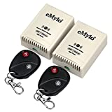 eMylo AC 220V-230V-240V 3000W 30A Interruttore 2 x 1 canali telecomando intelligente Trasmettitore RF relè wireless Modulo con ricevitore Interruttore luci Automazione domestica Interruttore remoto RF