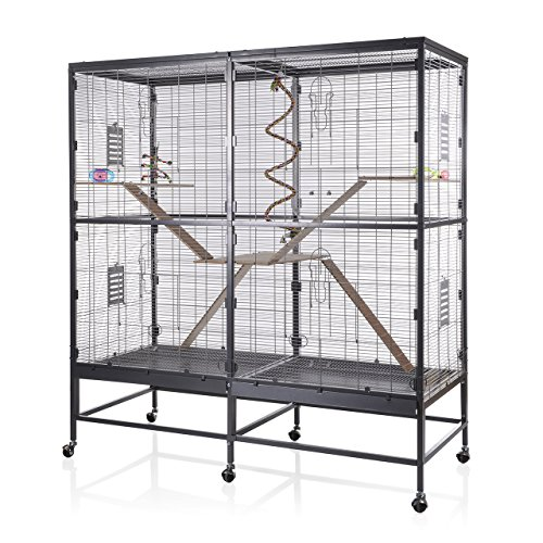 Montana Cages ® | Nagerkäfig XXL Sevilla 150 antik-Platinum für Ratten & Degus, der Rattenkäfig, Rattenvoliere