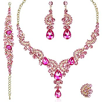Best pink jewelry set Reviews