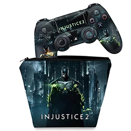 Capa Case e Skin Adesivo PS4 Controle - Injustice 2