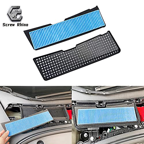 Screw Rhino 2PCs 2021 Tesla Model 3 Air Intake Filter ABS Grille Cover Reinforced Accessories for Model 3 More Filtering Possibilities