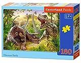 Castorland Dinosaur Battle 180 pcs Puzzle - Rompecabezas (Puzzle rompecabezas, Animales, Niños, Dinosaurio, Niño/niña, 7 año(s)) , color/modelo surtido