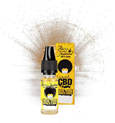 CBD Liquid made in Germany - Ziggi Jackson - Premium Liquid Aroma für E-Zigaretten und E-Shishas, ohne Nikotin/THC, Cannabidiol 100mg, 500mg, 1000mg (New York Space Cake, 500 mg)