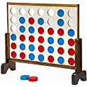Ropoda Giant Wooden 4 in a Row Game with Coins