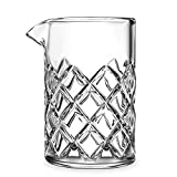 Cocktail Mixing Glass - Bar Mixing Pitcher for Stirring Drinks - 1/4-inch Thick Walls - 17-ounce, 2 Drink Capacity