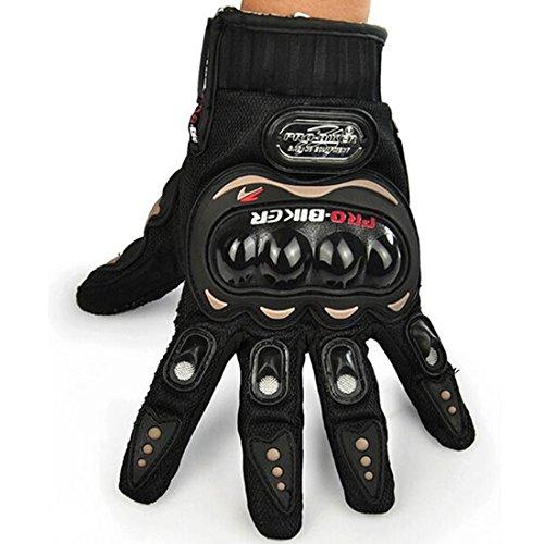 yihengya Yihya Carbon Fiber Full Finger Guanto Protettivo Protezione Guanti Moto Motociclo Motocross Scooter Offroad Biciclette Gloves Uomo e Donna Taglia XL/Black