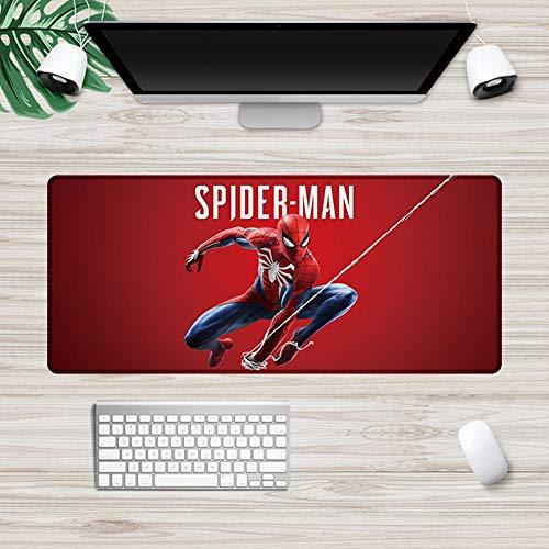 CSQHCZS-SBD Marvel Avengers Iron Man Mouse Pad groot formaat vergrendeld Gaming Mouse Pad Toetsenbord Bureau Mat, Natuurlijke Rubber anti-slip bodem zitten A+++++