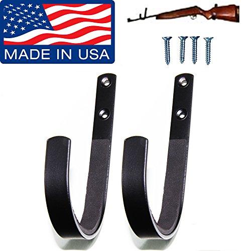 Johnson Brother Gun Rack Shotgun Hooks Rifle Hangers Archery Bow Felt Lined Wall Mount Storage (Handmade in The U.S.A.)