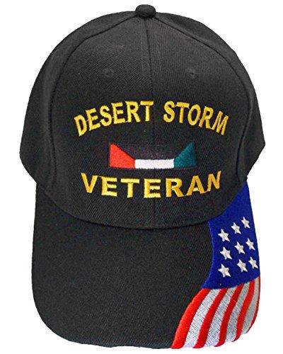Buy Caps and Hats U.S. Army Desert Storm Veteran Baseball Cap with American Flag