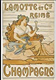 Champagne Lamotte Reims Poster Reproduktion – Format 50 x