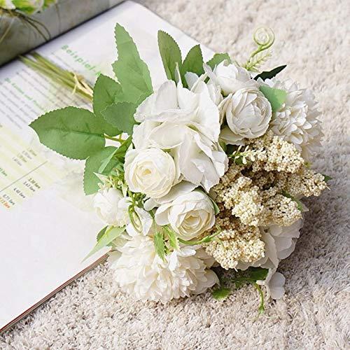 SYART 1 Paquete de Ramo de combinación de Boda Novia Dama de Honor con Flores Flores Artificiales Productos para el hogar decoración del hogar álbum de Recortes