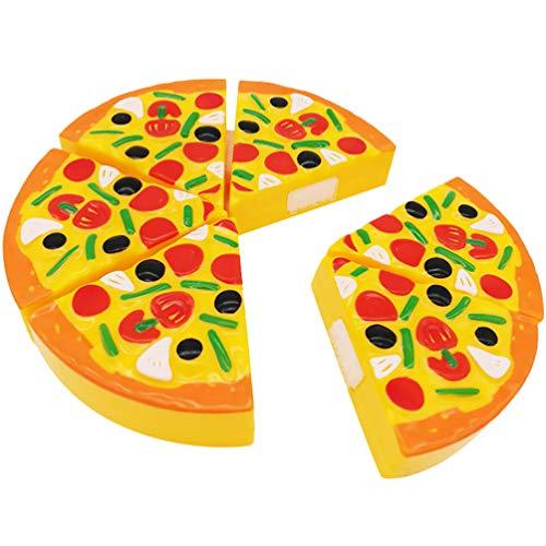 WINOMO Juego de Cocina Juguetes de Comida Divertido Cortando Pizza Juego de Comida de Simulación Juguetes para Cortar Alimentos Juguetes Vegetales Educativos Tempranos Juego de Corte de