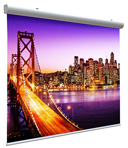 Motorized Projector Screen (111 Inches) 200x200 cm Format 4:3 16:9 16:10 - Electric Cover 2 Meters (from 111' to 138') - Projection Screen 2mt - Projector Cover Motor 200 cm - Video Projection 2 mt