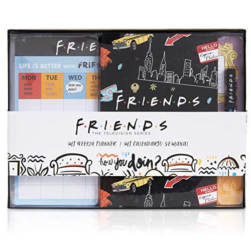 Friends Material Escolar, Set Papelería con Planificador Semanal, Libreta Pequeña y Bolígrafo Original, Materiales Escolares y de Oficina, Regalos Adolescentes, Merchandising Oficial
