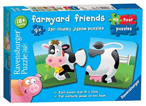 Ravensburger 6904 Farmyard Friends 9X 2 Piece Chunky Jigsaw Puzzles Toddler Toy for Kids 18 Months and Up