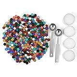 Mogokoyo 300 Stück Achtkantig Siegelwachs Siegellack Perlen Set mit 2