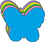 5.5' Butterfly Assorted Color Creative Cut-Outs, 31 Cut-Outs in a Pack for Spring, Summer Classroom Garden Kids' School Craft Projects