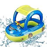 O-Kinee Anillo de natación, Silla Flotante para niños, Anillo de natación Inflable para Coche con Visera Solar