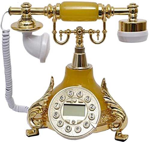 LLKK JNYTD - Teléfono clásico antigüo, resina de metal, diseño retro, para decoración del hogar