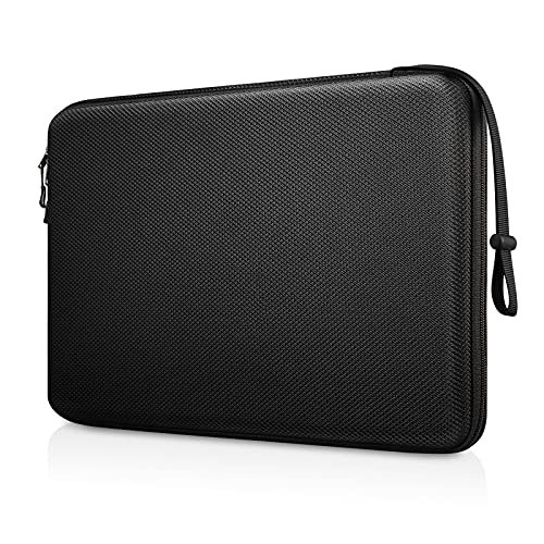 FINPAC 13-inch Hard Laptop Sleeve Compatible with 13.3'' MacBook Air/ Pro, Shockproof Computer Laptop Carrying Case for Dell Inspiron 13/XPS 13, Surface Laptop, HP, Acer, Samsung (Black)