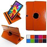 COOVY® 2.0 Cover für Samsung Galaxy Note PRO 12.2 SM-P900 SM-P901 SM-P905 Rotation 360° Smart Hülle Tasche Etui Case Schutz Ständer   orange