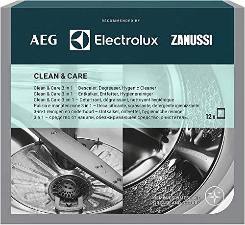 Electrolux - Desengrasante desincrustante para lavavajillas y lavadora, 12 unidades