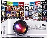 Mini Proyector Portátil en Casa,DBPOWER 6000 Lúmenes Proyector de Video Soporta Full HD 1080P,Compatible con TV Stick/Smartphone Android y iOS/PS4/DVD/Ordenador Portátil