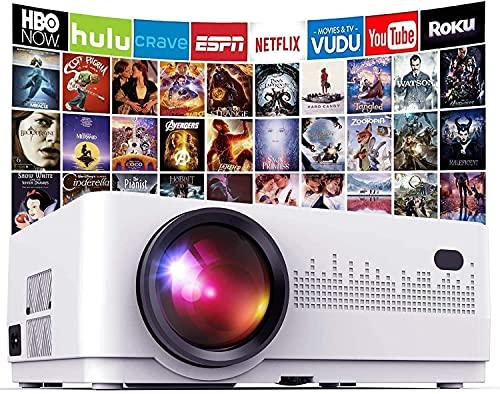 Mini Beamer 6000 Lumen, DBPOWER Heimkino Beamer, Unterstützt Full HD 1080P mit 50000 Stunden LCD, 200