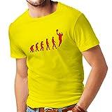 Camisetas Hombre evolución de Baloncesto - Canasta de la Calle, me Encanta Este Juego, Gran Fan de Regalo (XX-Large Amarillo Rojo)