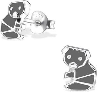 Laimons - Orecchini da bambina a forma di koala, in argento Sterling 925, colore: Grigio