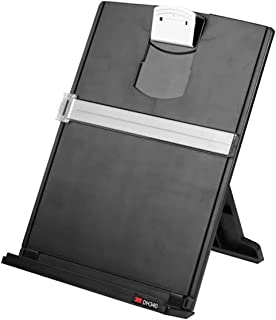 3M Desktop Document Holder with Adjustable Clip, 9.375 in x 12 in, 150 Sheet Capacity, Black (DH340MB)