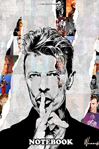 Notebook: Illustration Of David Bowie , Journal for Writing, College Ruled Size 6