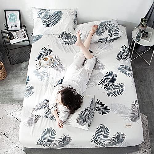 CYYyang colchón Acolchado, antialérgico antiácaros, Protector de Cubierta Completa de sábana de algodón-16_180 * 200cm