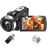 Videokamera Full HD 2.7K 30FPS Camcorder Tragbare Vlogging-Kamera 42 MP Unterstützt Zeitraffer und Zeitlupen Digitalkamera mit 3-Zoll-LCD-Bildschirm Fernbedienung