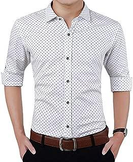 Peppyzone Printed Slim Fit Full Sleeve Formal Shirt for Men