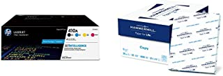 $436 » HP 410A | 4 Toner Cartridges | Black, Cyan, Magenta, Yellow & Hammermill Paper, Copy Paper, 8.5 x 11 Paper, Letter Size, 20lb Paper, 92 Bright, 8 Ream Case / 4,000 Sheets Acid Free Paper