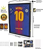 Jersey Display Frame Case Large Frames Shadow Box Lockable with UV Protection...