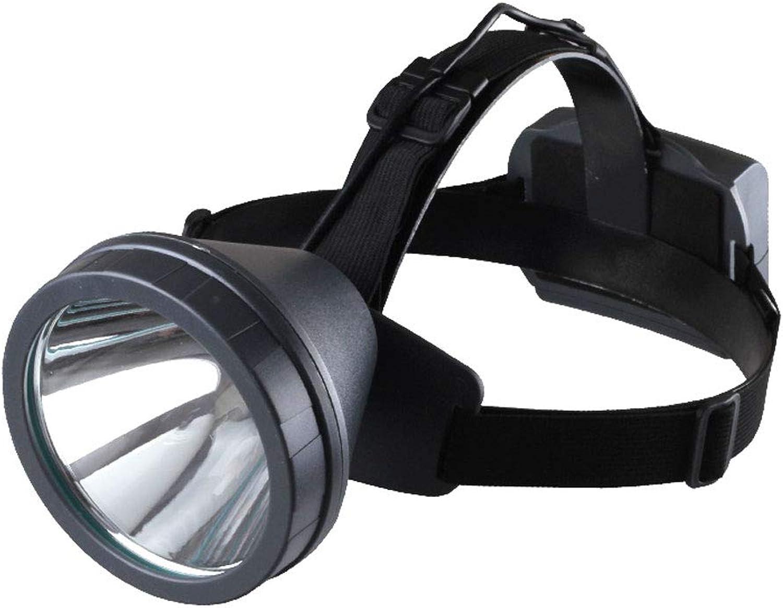 XUANLAN Blendung wiederaufladbare Wasserdichte Outdoor-Angeln Headhunter-Taschenlampe mit gelbem Licht T6 Scheinwerfer (Farbe   Gelb Light)