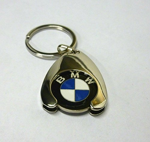 BMW Schlüsselanhänger Keyring Einkaufs Chip Einkaufswagen Euro - Chrom