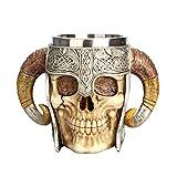 CWYP-MS 600ml Taza de cráneo de Acero Inoxidable Taza de café Taza de Viaje Taza de Bebida Taza de té de Halloween Taza de...
