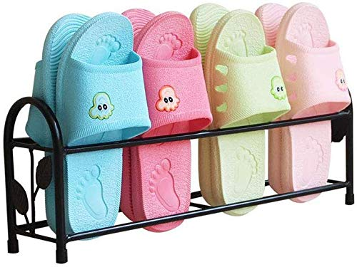 Zjnhl Shoe Organizer/Iron Bathroom Slippers Rack Free Punching Simple Dormitory Door Storage Artifact Home Mini Save Space Small Shoe Rack