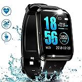 J-SPYFIT GPS Running Fitness Tracker,Smart Watch IP68 Waterproof with Color Screen,Sleep...