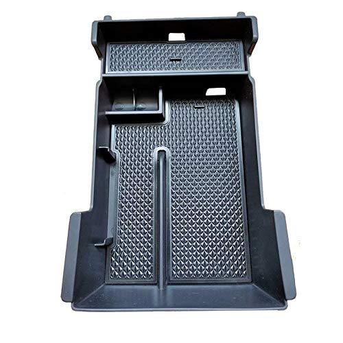 1pc apoyabrazos del coche de caja reposabrazos central Caja de almacenamiento bandeja de accesorios en forma for el Mazda 3 2019 2020 (tamaño : Negro)