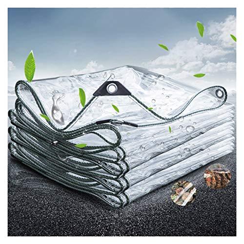 GYYARSX Tarps Glass Clear Tarpaulin Waterproof Heavy Duty 0.3mm Thicken PVC Home Window Balcony Moisturizing Rain Curtain, With Plastic Corners, 40 Sizes (Color : Clear, Size : 3.0X5.0M)