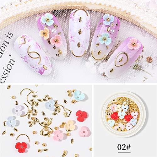 Janly Liquidación de uñas de tres pétalos de flor de fondo plano de agua taladro mezclado de pasta de uñas, para mujeres hogar decoración de uñas