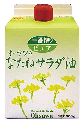 オーサワジャパン なたねサラダ油 600g ×4セット
